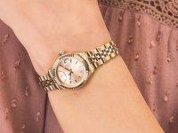 Zegarek różowe złoto klasyczny Timex Originals TW2T86500 bransoleta - duże 4