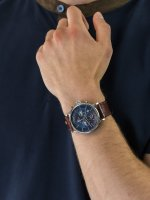 Zegarek srebrny fashion/modowy Tommy Hilfiger Męskie 1710393 pasek - duże 3