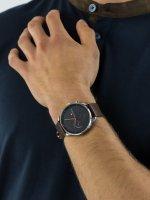 Zegarek srebrny fashion/modowy Tommy Hilfiger Męskie 1791487 pasek - duże 3