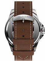 Timex TW2U42800 zegarek srebrny klasyczny Essex Avenue pasek