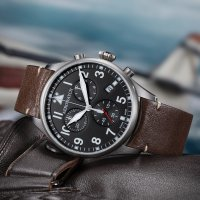 Aerowatch 79990-AA03 zegarek srebrny klasyczny Les Grandes Classiques pasek