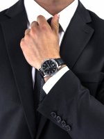 Zegarek srebrny klasyczny Atlantic Worldmaster 53750.41.61 pasek - duże 3