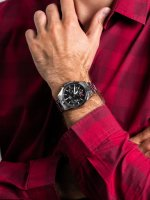 Zegarek srebrny klasyczny Casio EDIFICE Premium EFS-S530D-1AVUEF bransoleta - duże 3