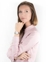 Zegarek srebrny klasyczny Lorus Klasyczne RG221QX9 bransoleta - duże 2