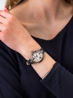 Zegarek srebrny klasyczny Michael Kors Maci MK2833 pasek - duże 3
