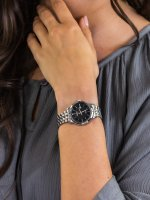 Zegarek srebrny klasyczny Seiko Classic SUR649P1 bransoleta - duże 3