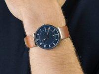 Zegarek srebrny klasyczny Skagen Grenen SKW6457 pasek - duże 4