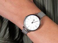 Zegarek srebrny klasyczny Skagen Hagen SKW2358 bransoleta - duże 4