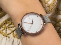 Zegarek srebrny klasyczny Skagen Hagen SKW2662 bransoleta - duże 4