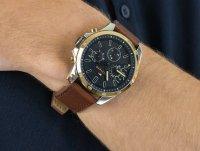 Zegarek srebrny klasyczny Tommy Hilfiger Męskie 1791561 pasek - duże 4