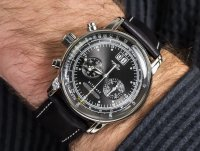 Zegarek srebrny klasyczny Zeppelin 100 Years Zeppelin Ed 1 7690-2 pasek - duże 4