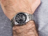Zegarek srebrny sportowy Casio Radio Controlled LCW-M100TSE-1A2ER bransoleta - duże 4