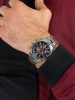 Zegarek srebrny sportowy Fossil Grant FS5628 bransoleta - duże 3