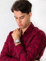 Zegarek srebrny sportowy Lorus Sportowe RT333HX9 bransoleta - duże 2