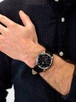 Zegarek srebrny sportowy Orient Classic RA-KV0404B10B pasek - duże 3