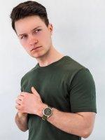 Zegarek srebrny sportowy Timex Allied TW2T75800 pasek - duże 2