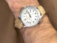 Zegarek srebrny sportowy Timex Intelligent Quartz TW2R43300 pasek - duże 4