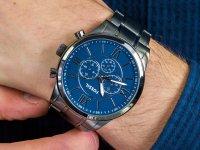 Zegarek szary klasyczny Fossil Flynn BQ1126 bransoleta - duże 4