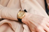 Zegarek złoty klasyczny Guess Pasek GW0034L1 pasek - duże 7