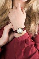 Zegarek złoty klasyczny Timex Easy Reader TW2R65400 pasek - duże 3
