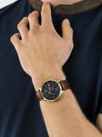 Zegarek złoty klasyczny Tommy Hilfiger Męskie 1710359 pasek - duże 3